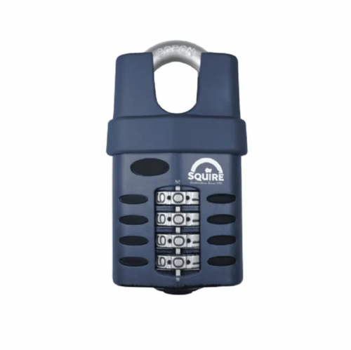Squire CP50CS Combination Padlock 4 Wheel Closed Shackle 50mm